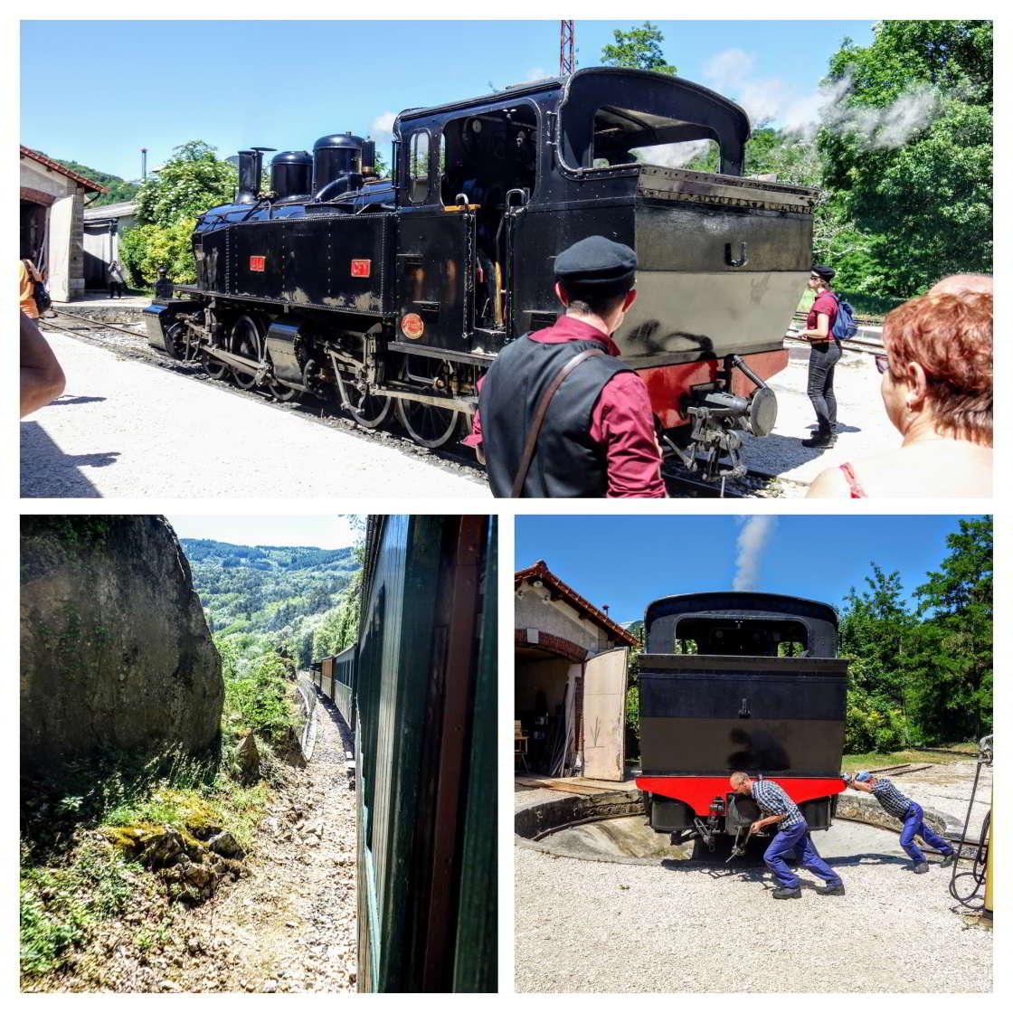 collage van beelden over de Ardèche treinrit