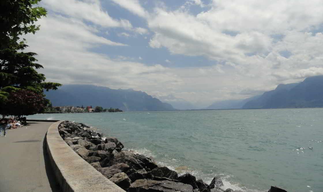 Stuk oever van het Meer van Genève