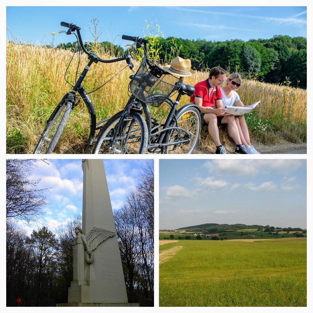 Collage van de Kemmelberg in België