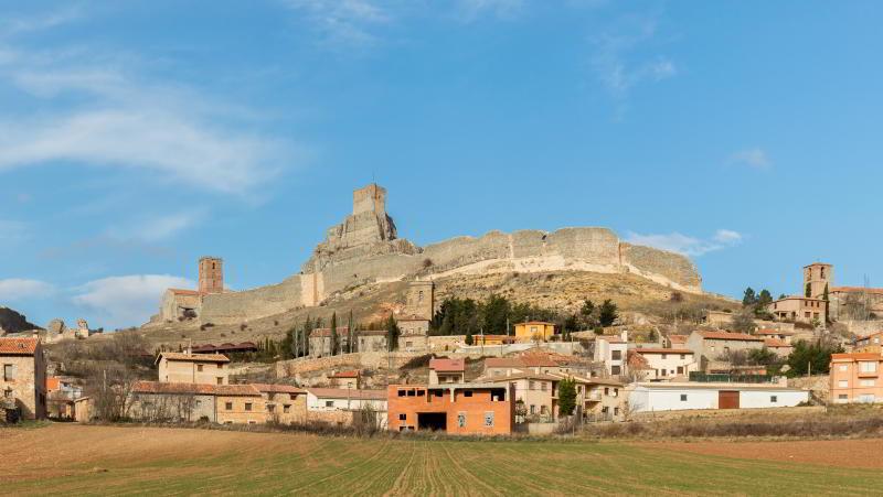 Zicht op het historische stadje Atienza