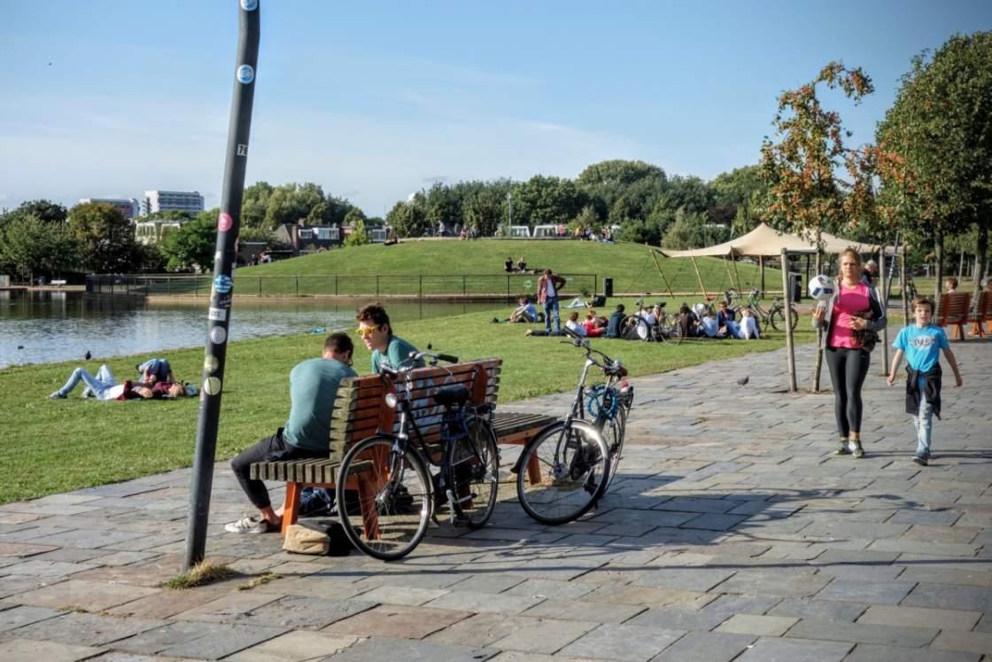 Griftpark in Utrecht op een zonnige dag