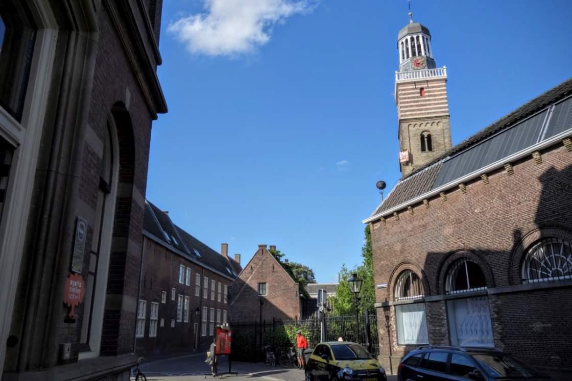 Foto van oude gebouwen in het Museumkwartier in Utrecht