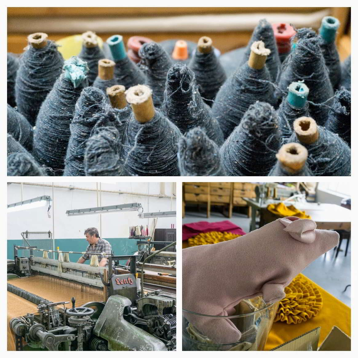 collage van beeld Burel-fabriek