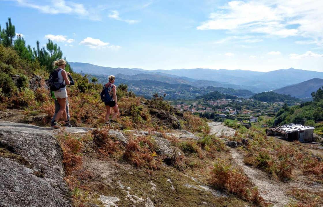 drie wandelaars in Peneda-Gerês